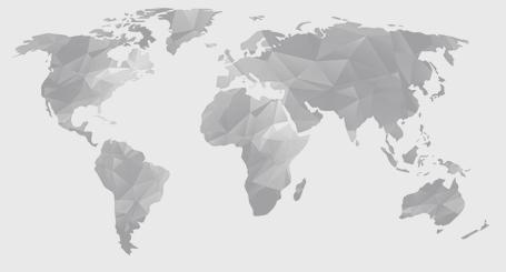 Carte du monde - gris