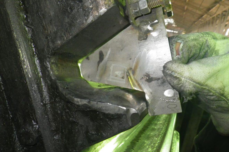 L'usure couronne était de 3mm avant usinage Novexa. résultat = baisse de vitesse de rotation et vibration