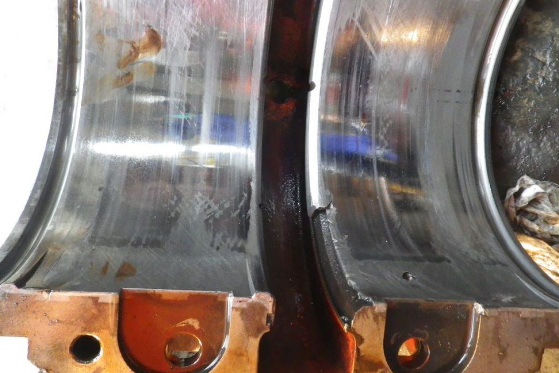 Les paliers ont été remplacés car les vibrations ont provoqué une casse du régule. Risque d'arrêt non planifié